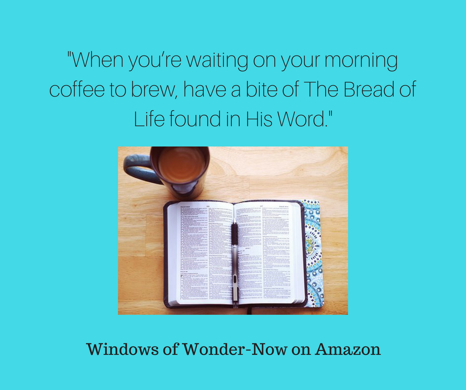Do you keep a Bible in the kitchen so that you can snack on His Word? I have personally found a nibble here and there really adds up. So when you_re waiting on your morning coffee to b